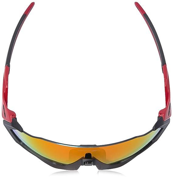 Amazon.com  Oakley Men s Flight Jacket Polarized Iridium Rectangular  Sunglasses, Black, 0 mm  Clothing 891dfac37f