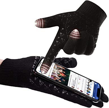 Winter Knit Gloves Mens Christmas Gifts For Men Touchscreen Gloves Women Texting Gloves Warmers Women For Phones Novelty Presents For Him Or Her Smartphone Outdoor Christmas Gifts For Dad Or Mum Amazon Co Uk