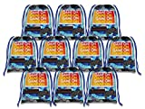 : Video Gaming Game On Drawstring Bags Kids Birthday Party Supplies Favor Bags 10 Pack