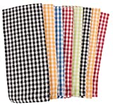 KAF Home Gingham Check Kitchen Towels | Set of 8, 100% Pure Cotton, 16'' x 26'' Kitchen Towels | Absorbent, Soft, Fun, and Beautiful Kitchen Towels | Perfect for Barbecuing and Grilling (Primaries)