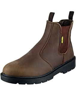 78a01548885 Dickies FA23345 BR 9 High S1-P Safety Dealer Boots Brown Size 43 ...