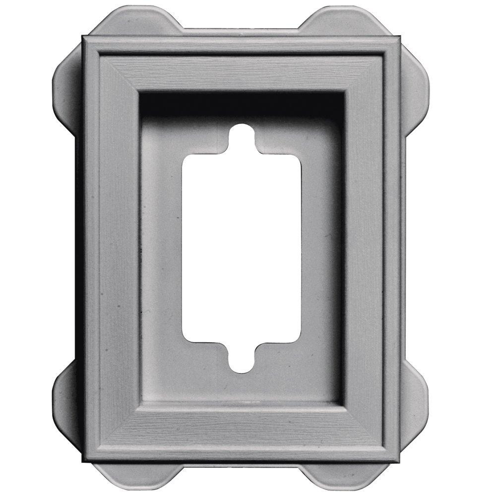 Builders Edge 130130002016 Recessed Mini Mounting Block 016, Gray
