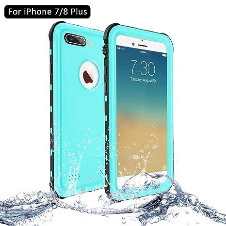 fe8eb22ddc8 NewTsie Funda iPhone 7 Plus, Funda iPhone 8 Plus, Anti-rasguños Impermeable  Carcasa