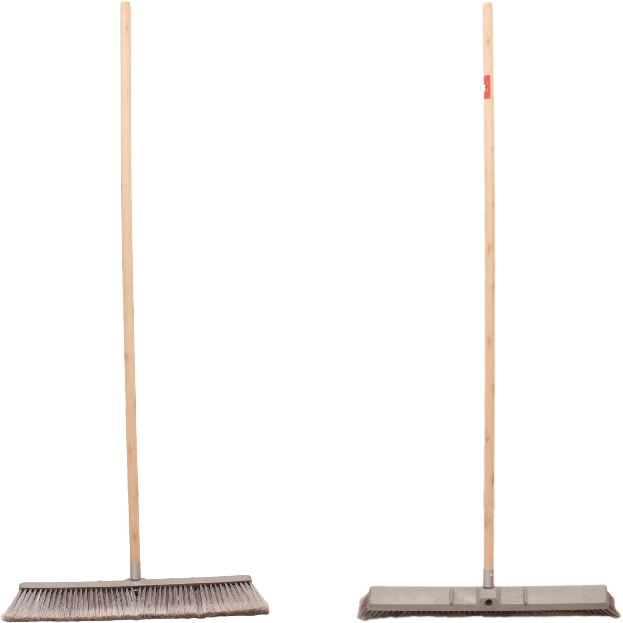 Professional Commercial Multi Surface Heavy Duty Industrial Push Broom Rough Surface Sweeper Brush With Stiff Bristles & Steel Wire Insert Warehouse & Contractors, Lawn & Garden, Indoor&Outdoor (Gray) by Unique Imports (Image #5)