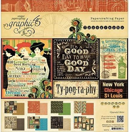None Graphic 45 4501777 Fltr Paper Pad 12x12