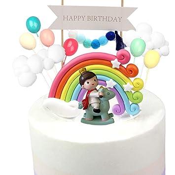Kitchen-dream 13PCS Kit de Pastel de cumpleaños de príncipe ...