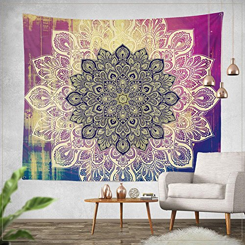 Jescrich Indian Bohemian Tapestry Wall Hanging Large Floral Psychedelic Mandala