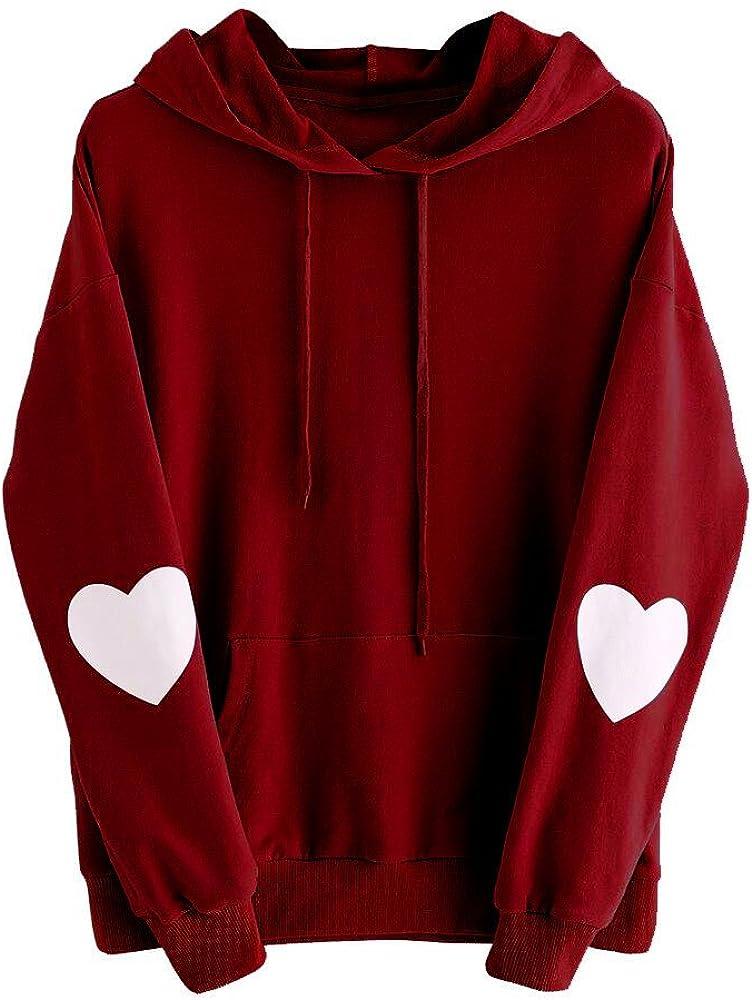 ZODOF Sudaderas Mujer con Capucha, Sudaderas Blusas de Mujer de Moda Invierno Camisetas de Manga Larga Suelta Blusas Mujer Tallas Grandes Hooded Pullover Tops Carta impresión