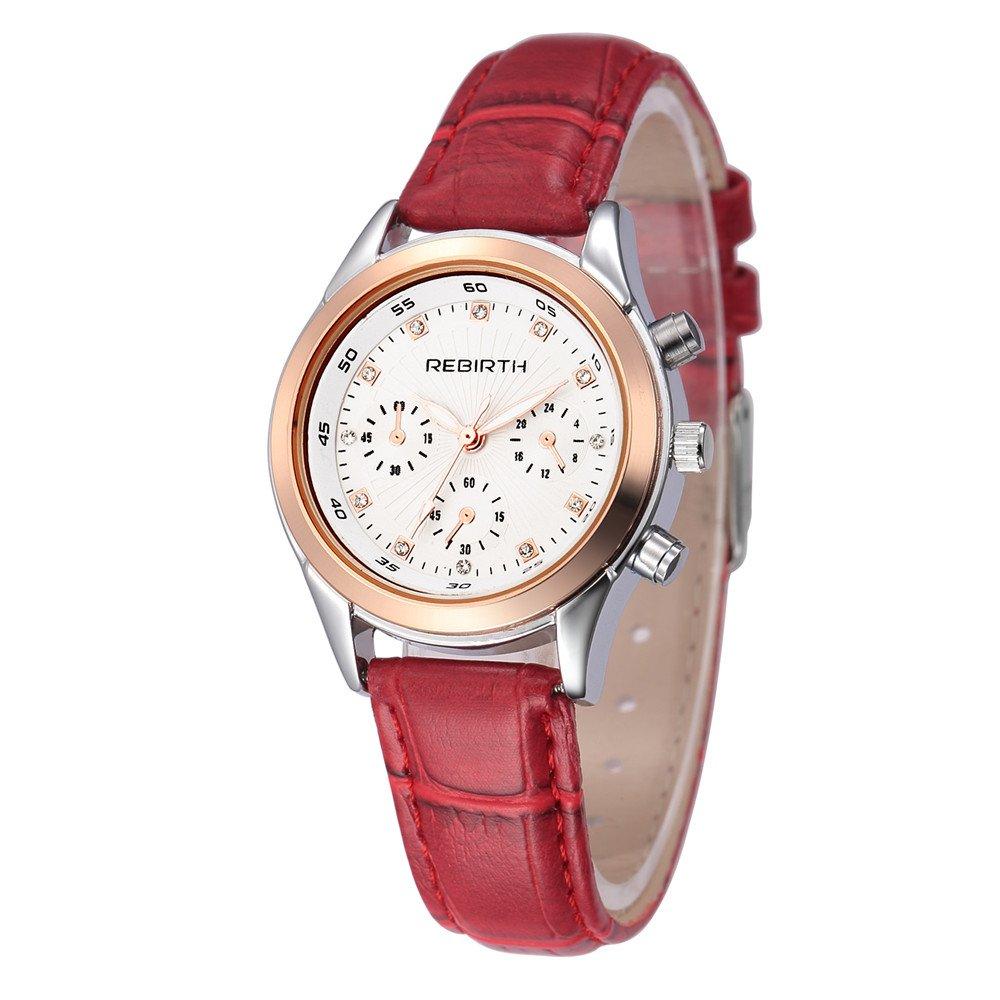 Rebirthレディースドレススタイルシンプルなダイヤルデザイン腕時計レザーストラップ 1# B071963SJW 1# 1#
