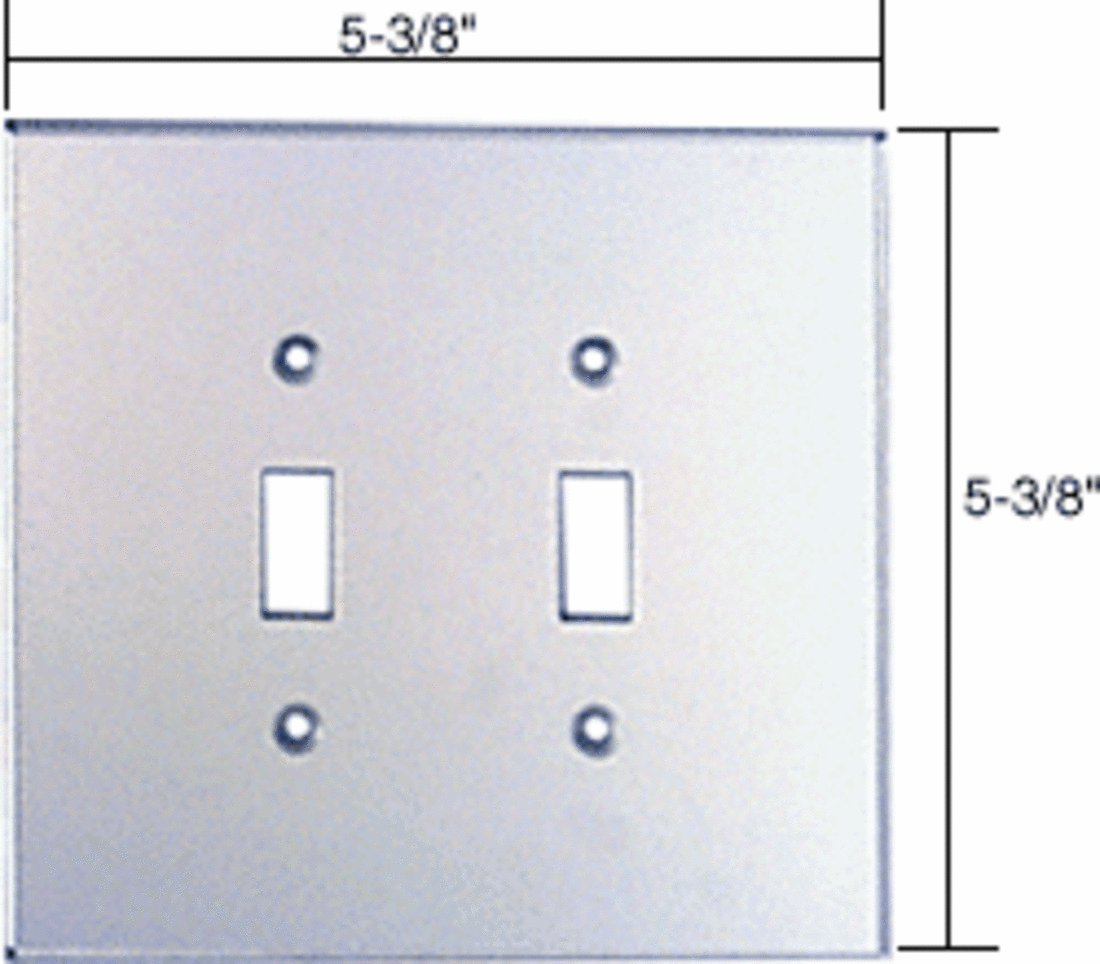 CRL Double Toggle Acrylic Mirror Plate - Clear