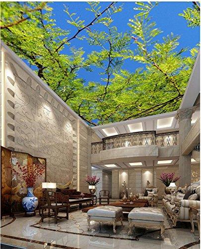 430cmX300cm Mural 3d Wallpaper Tree Sky Ceiling Custom