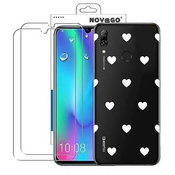 NOVAGO - Carcasa rígida para Huawei P Smart 2019, Honor 10 Lite, diseño de Corazones
