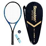 Senston Adult Tennis Racket Prestrung Tennis Racquet ,Strung with Cover,Tennis Overgrip , Vibration Damper