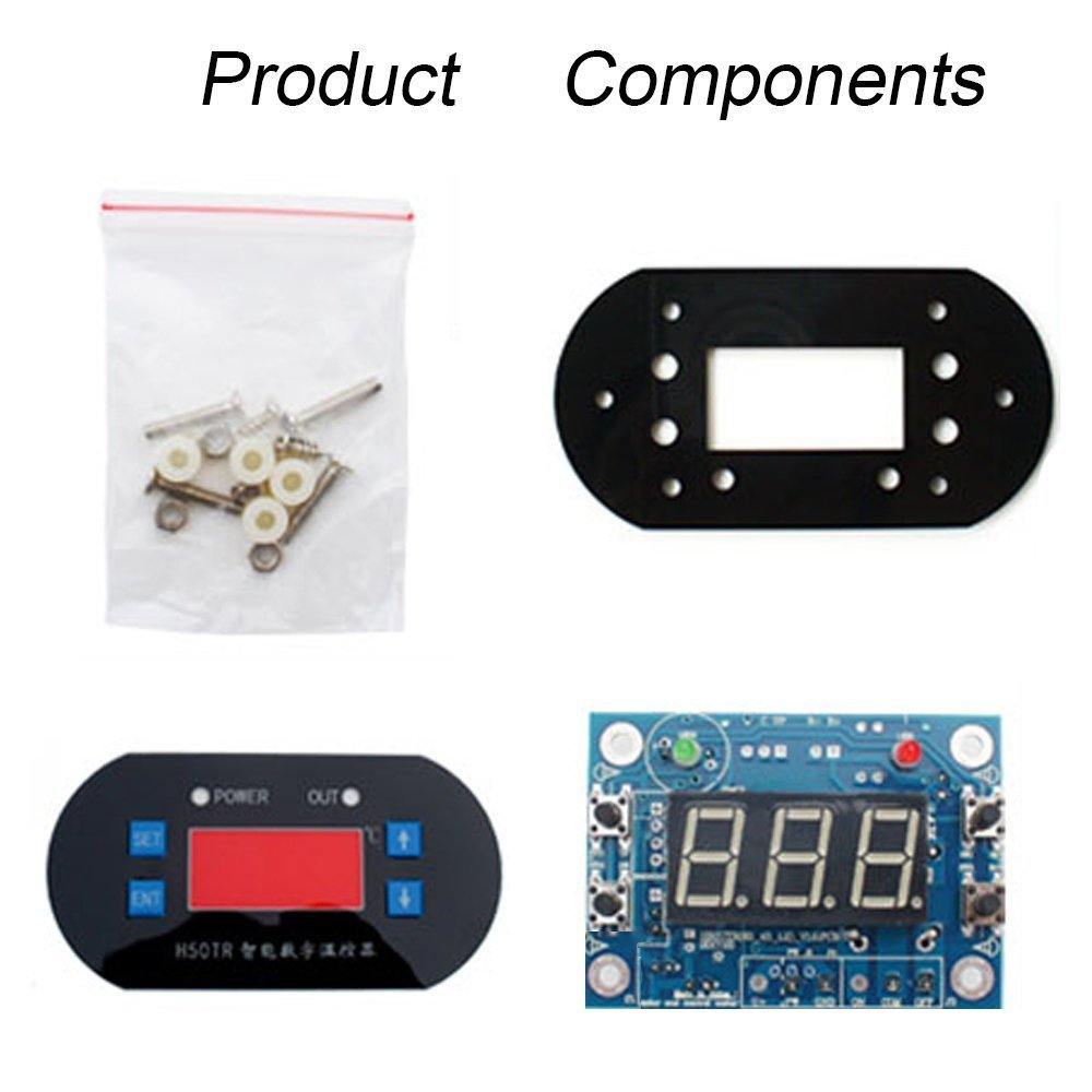 DC - Termostato digital LCD de 12 V con sonda para almacenamiento, calentadores de agua, hornos, refrigeradores y control microcomputador: Amazon.es: ...
