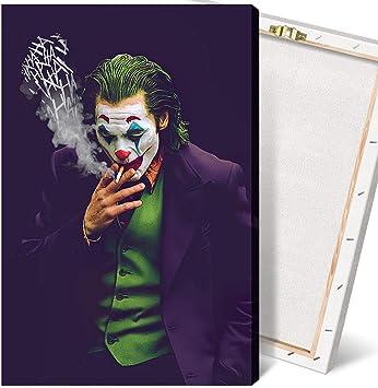 Joker Smoking Wall Art Framed