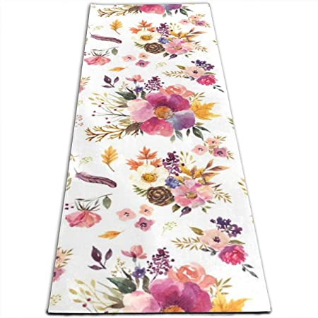 IconSymbol Fall Friends Floral - White Yoga Design Foldable ...