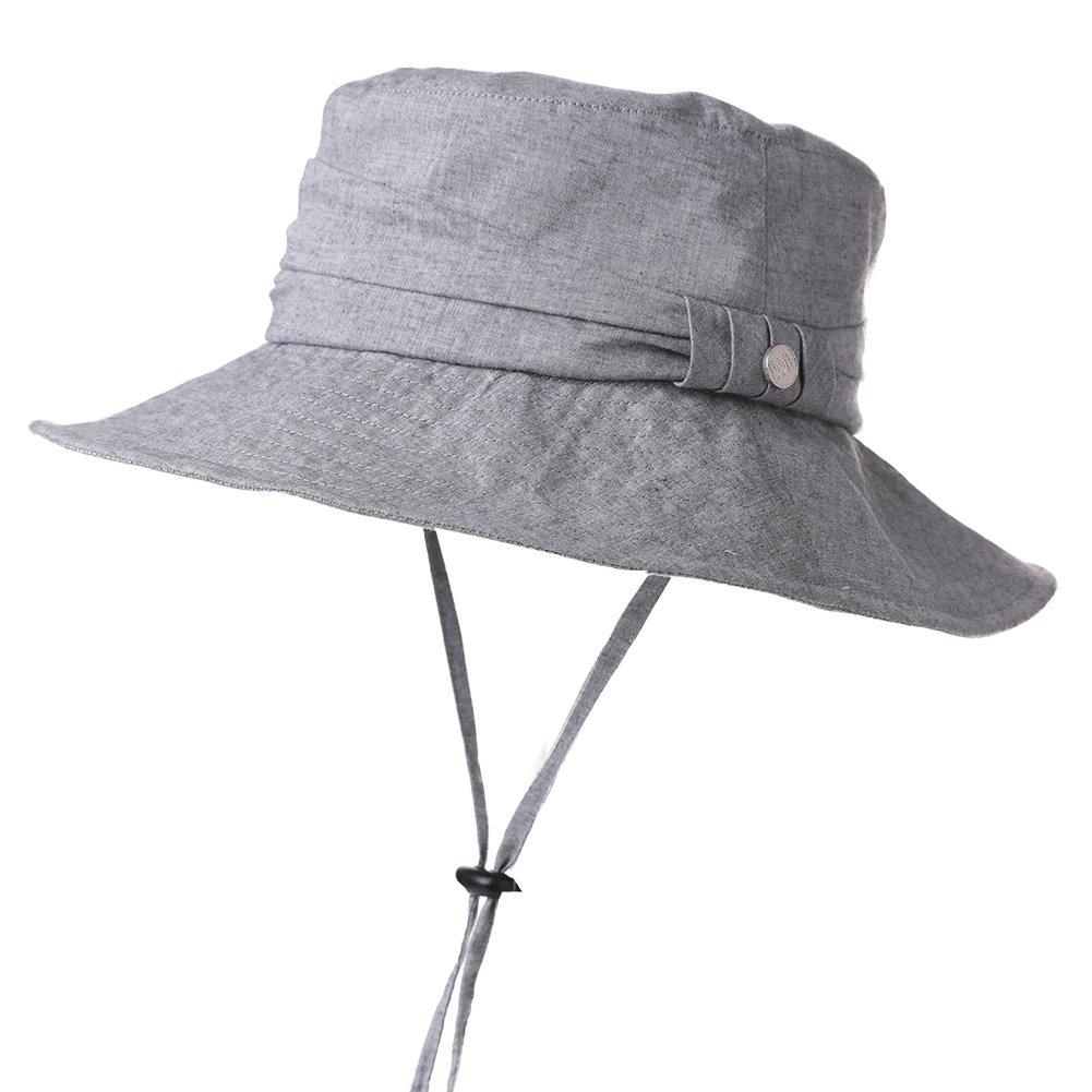 Womens Sun UV Protection Hats Cap Summer Garden Shade Sunblock Hat Crushable Cotton Black SiggiHat