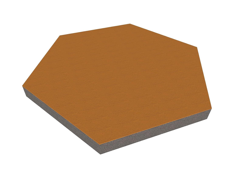 PolySound Schallschutzwand & Breitbandabsorber ECO Hexagon , 440mm - Farbe: hellgrau melange Stä rke: 10cm FSA0264401039HEXL-L