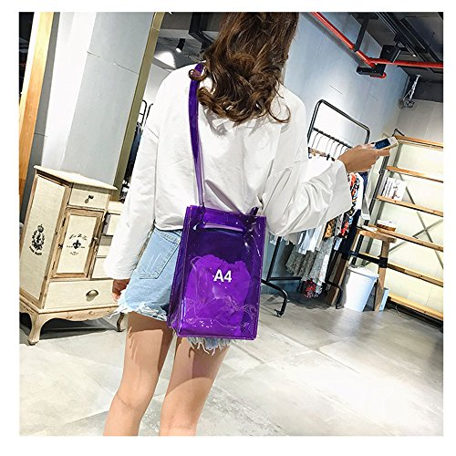 Women Stadium Bag Inner Approved Clear Adjustable large Handbag Crossbody for Purple Bag Messenger with Shoulder Purse Strap NFL H6SvYzZ