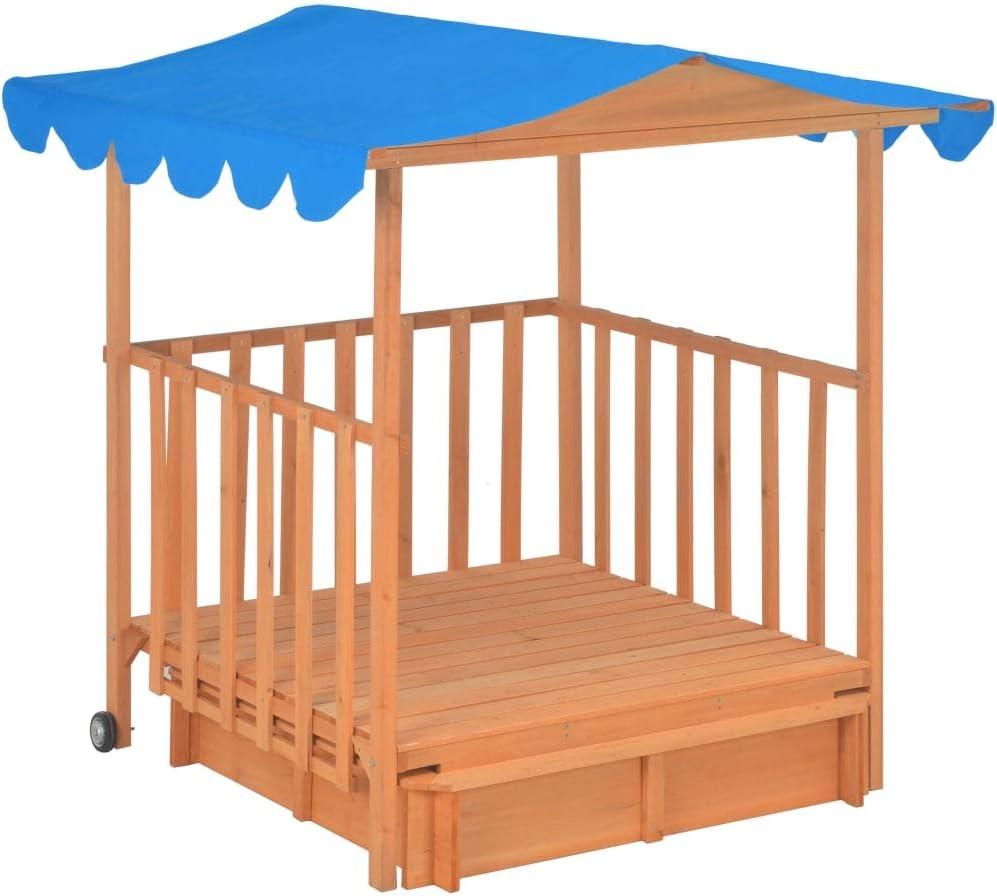 Nishore Casa de Juegos Infantil 130 X 130 X 143 Cm Azul Casa de ...
