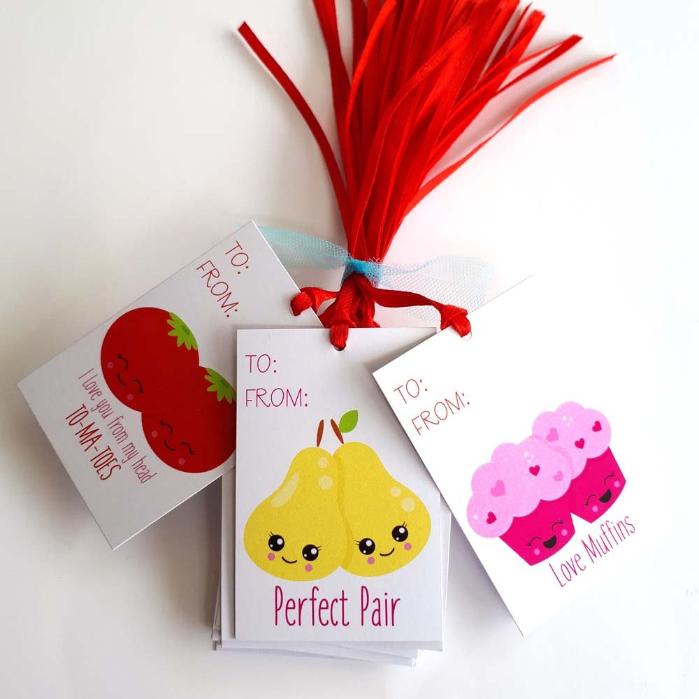 Amazon Perfect Pair Valentines Day Gift Tags Food And Drink