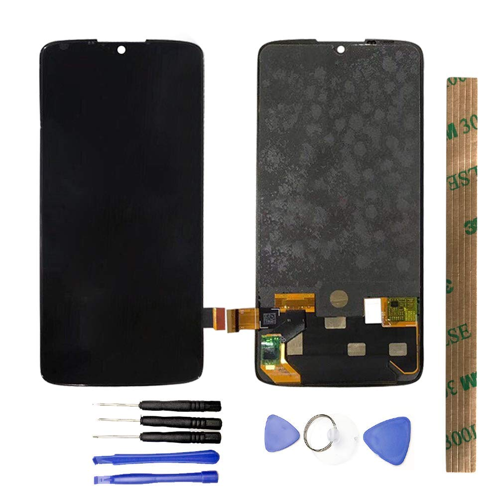 JayTong LCD Display & Replacement Touch Screen Digitizer Assembly with Free Tools for Motorola Moto Z4 Play XT1980 Black by JayTong