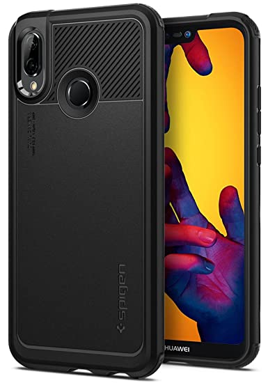 super popular 369fb fa99a Spigen Marked Armor Huawei P20 Lite Case with Flexible and Durable Shock  Absorption for Huawei P20 Lite (2018) - Black