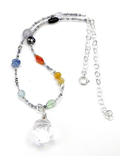 Amazon.com: DAMALI Chakra Necklace Crystal Healing Jewelry ...