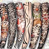 Aribelly 3 pairs Unisex Temporary Fake Slip On Tattoo Arm Sleeves Kit New Fashion Sunscreen Arm Cover up