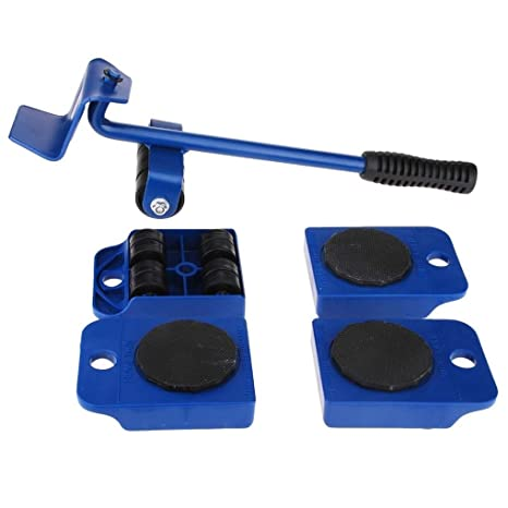 Kit de herramienta de mano de ruedas Corner Motores 5pcs Transporte Muebles levantador de ruedas Diapositivas