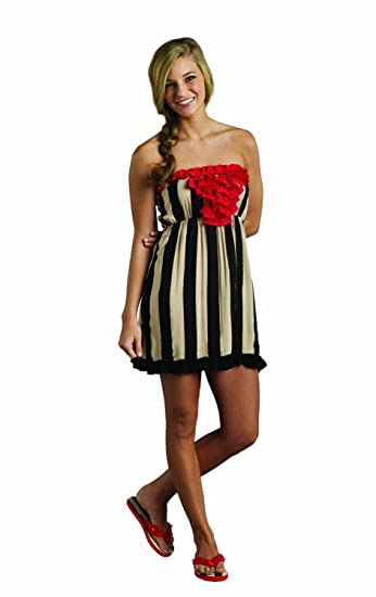 31902b06b7 Image Unavailable. Image not available for. Color: Mud Pie Ladies Swim  Cover up Dress- Strapless (Medium)