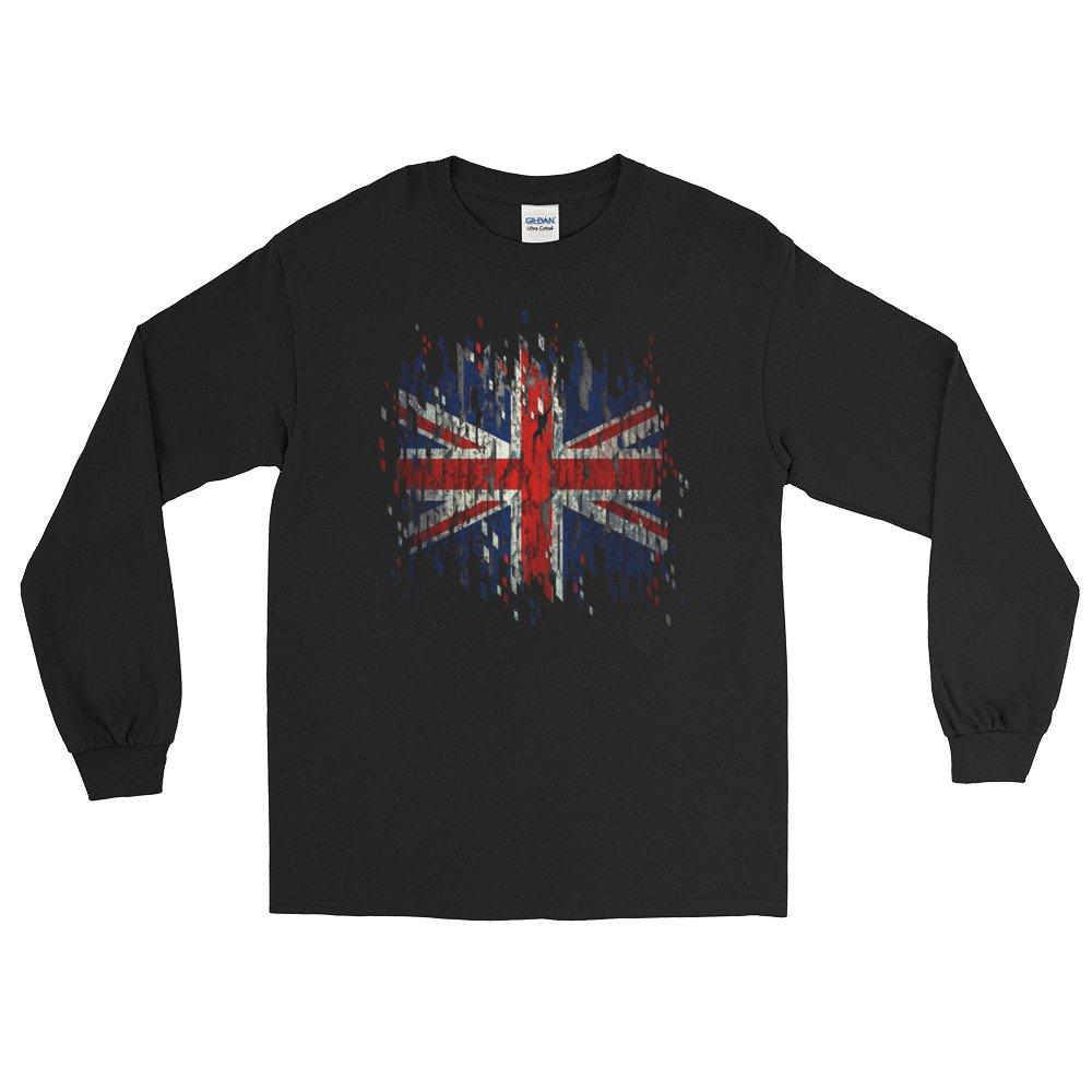 Arkansas made Britain United Kingdom Distressed Flag Long Sleeve T-Shirt by