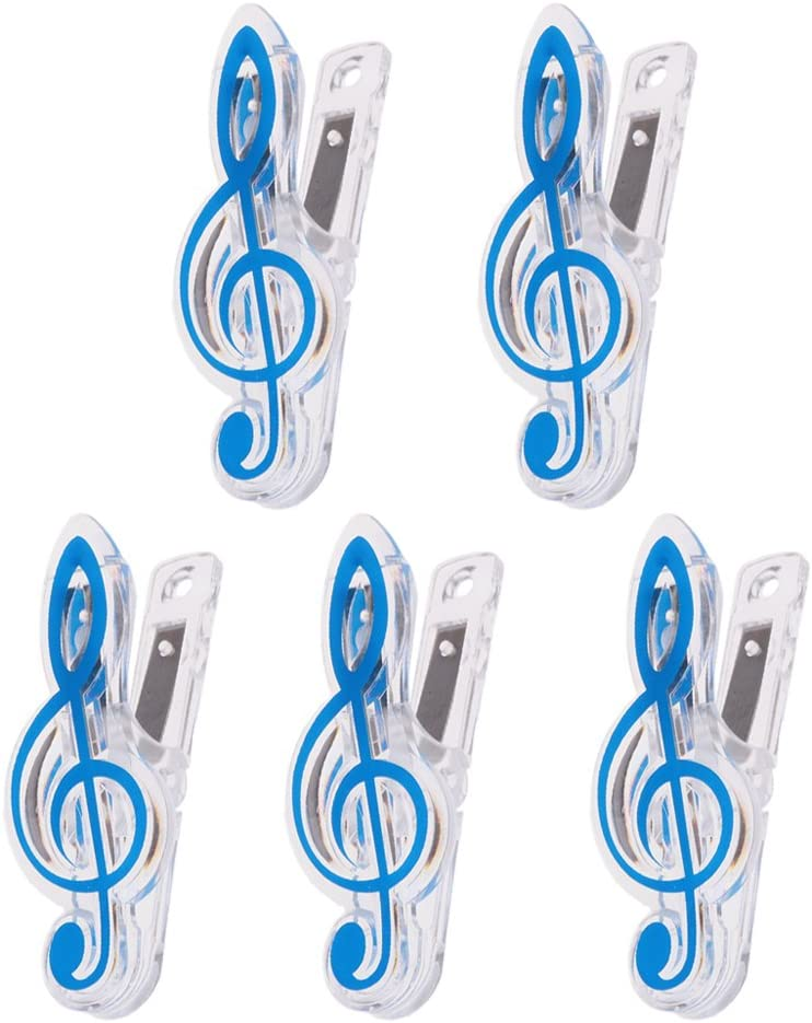 Sharplace 5Pcs Marque Page Partitions Musique Marquer Livret Accessoire Papeterie Vert