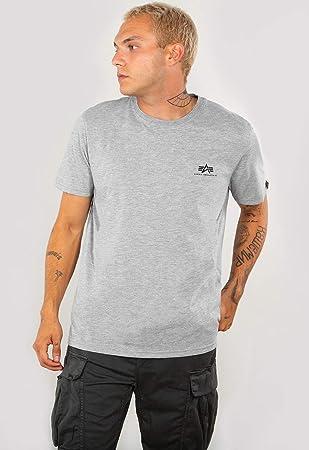 Alpha Industries Herren Basic T-Shirt navy blau Männer Tshirt Men/'s Tee blue