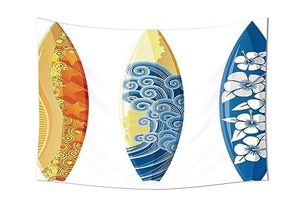 Surf decoración colección Ornate colores tablas de surf vocación divertido agua deportes movimiento olas estilo de