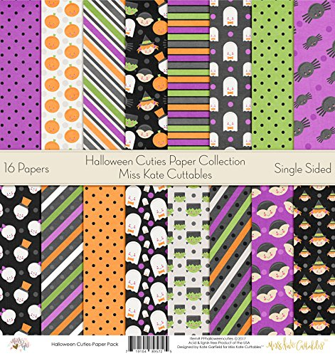 Pattern Paper Pack - Halloween Cuties - Scrapbook Card Stock Single-Sided 12