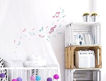 Dekodino Wandtattoo Kinderzimmer Wandsticker Set Sterne Mit Bunten Madchenfarben In Past Wohnaccessoires Deko Kuche Haushalt Wohnen