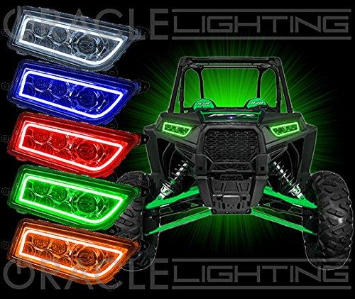 Polaris RZR XP 1000 2013-2015 ORACLE Plasma Halo Headlight Kit - BLUE L.E.D. Plasma Lights by Southern Car Parts