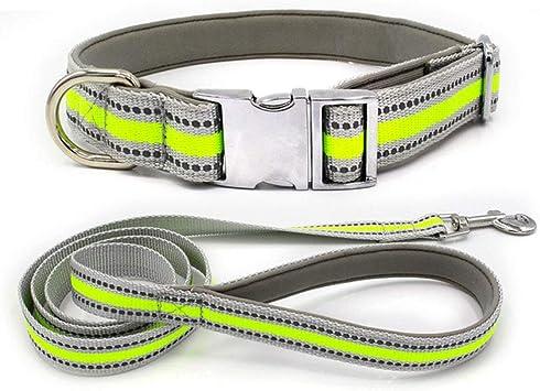 XUEYAN521 Correa de Perro Collar Reflectante de Nylon para ...