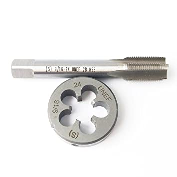 9 16 24 HSS Tap And Die Set Thread Round Right Hand Taper Amazonca Tools Home Improvement