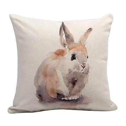 Animal Floral Throw Pillow Case Cushion Waist Cover Sofa Home Office Decor Call