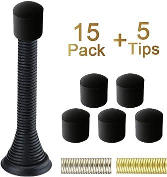 Oil-Rubbed Bronze Home Master Hardware Spring Heavy Duty Door Stops 3 Door Stoppers Oil Rubbed Bronze w//Rubber Bumper 6 Pack