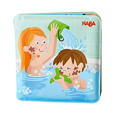 """HABA Paul & Pia - Magic Bath Book - Wipe with Warm Water and the """"Muddy"""" Pages Come Clean: Toys & Games"""