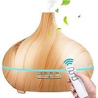 Aroma diffuser, SaponinTree 550 ml ultraljud luftfuktare träkorn olja dofter luftfuktare elektrisk doftlampa med 7…