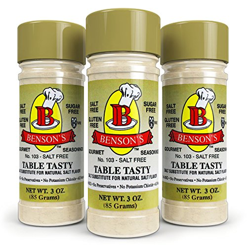 Benson's - Table Tasty Salt Substitute - No Potassium Chloride Salt Substitute - No Bitter After Taste - Good Flavor - No Sodium Salt Alternative - New Size 3 oz Bottle With Shaker Top by Benson's Gourmet Seasonings (Image #2)