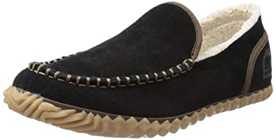 SOREL Mens Dude Moccasins, Black, ...