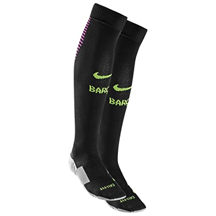 Nike FC Barcelona H/A/G Stadium Sock Calcetines, Hombre, Negro (