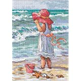 Dimensions Needlecrafts Counted Cross Stitch, Girl At The Beach