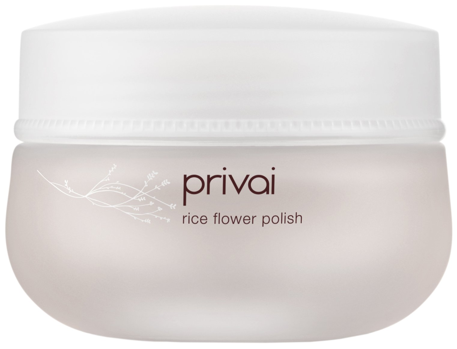 Privai Rice Flower Polish - Natural, Paraben-Free, Brightening Facial Exfoliator (1.7 Ounces, 50 Grams)