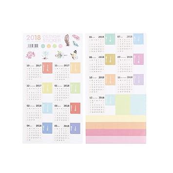 coscosx 1 pc 2018 almohadilla de escritorio calendario ...